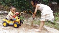 亲子益智玩具238 萌宝玩挖掘机挖沙子寻宝 儿童挖掘机工程车拆封试玩玩具视频 挖土机可坐可骑挖掘机铲车工程车玩具钩机汽车总动员奇趣蛋玩具视频 儿歌-儿童歌曲串烧