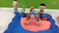 大头儿子帮芭比娃娃公主建造城堡庄园!橡皮泥培乐多彩泥黏土过家家玩具亲子游戏奇趣蛋小猪佩奇粉红猪小妹奥特曼光头强熊出没海绵宝宝超级飞侠变形金刚214