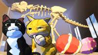 【小熙解说】暴力喵喵拳 愚蠢的人类是博物馆里的恐龙化石先动手的!