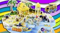 植物大战僵尸2 ①巨浪沙滩争夺战 3D立体拼图 亲子互动游戏