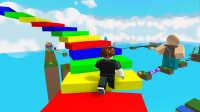 [小宝趣玩]Roblox04 跑酷游戏 逃离唐纳德·特朗普 上集 虚拟世界