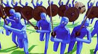 魔哒解说 战争模拟器 逗逼红蓝3对3PK 广场舞大妈出没