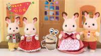 白白侠玩具秀:森贝儿家族 巧克力兔家族玩偶