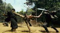 托尼贾刀剑,三节棍,绳镖冷兵器打斗