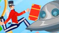 【屌德斯解说】 喷气的行李工 服务员背着火箭背包在各种神奇的主题酒店穿梭