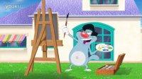 蓝猫大战三小强-艺术家-喜剧-动画-动漫-卡通短片