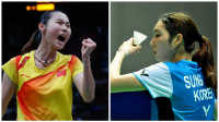 低视角 羽毛球 王仪涵 vs 成池鉉- WS Final [Denmark Open 2013]
