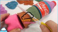 如何做 可口可乐可乐运动沙冰淇淋玩橡皮泥Doh玩具惊喜鸡蛋玩具 【 俊和他的玩具们 】
