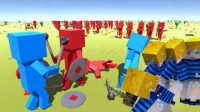 【XY小源】古代战争模拟器2AncientWarfare2 红蓝大军一斧三方块人(误删重传)