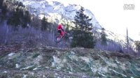 Santa Claus is shredding to town (on a fatbike - mountainbike)
