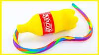 手工DIY黄色培乐多可乐;培乐多彩泥粘土可乐玩具试玩!#欢乐迪士尼#
