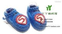 【小脚丫】超人(小码鞋面)超高清婴儿毛线鞋宝宝毛线编织鞋毛线编织教程