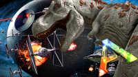 【屌德斯 方舟生存】 新萌萌村 初入世界居然看到星球大战的巨型太空飞船