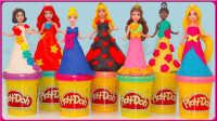 秒杀手工DIY美丽公主彩裙;迪士尼公主的培乐多彩泥裙子!#欢乐迪士尼#