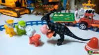 玩具视频动画片1汪汪队赶走恐龙救小猪佩奇和蛋蛋