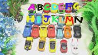 飞燕传媒 学英文字母ABC歌汽车玩具总动员玩具车视频 儿童玩具视频 678