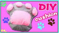 超可爱粉红大熊掌抱枕制作;手工DIY不织布抱枕视频教学!#欢乐迪士尼#