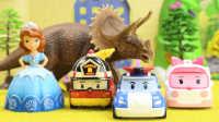 『奇趣箱』变形警车珀利玩具视频:小公主苏菲亚被恐龙巫婆变成美人鱼,变形警车珀利来救援。
