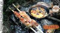 【露营野餐】烤煎饼和木树枝烤肉