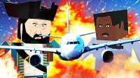 【屌德斯解说】 方块人大乱斗 创意工坊模式 飞机大暴乱之后入侵警察局