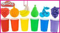 快乐小孩学习颜色DIY教学;培乐多彩泥水果模具染彩虹啦!小猪佩奇彩虹小马 #彩虹乐园#