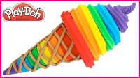 趣玩橡皮泥冰淇淋DIY建模;培乐多彩泥手工DIY儿童创意!小猪佩奇熊出没 #彩虹乐园#