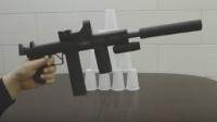 用黑色打印纸做把玩具皮筋枪07