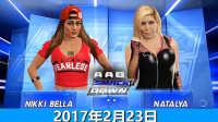 WWE任意地点压制赛:尼基贝拉vs娜达利娅 佰威解说WWE2K17剧情 WWE2017年2月23日