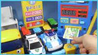 变形警车珀利加油站玩具试玩;小巴士泰路排队来加油啦!熊出没 #PomPom玩具#