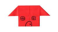 小房子折纸教程 折一座漂亮的小房子亲子手工折纸教程益智游戏