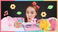 凯利和剪纸艺术之纸花朵制作玩具 | 凯利和玩具朋友们 CarrieAndToys