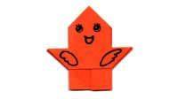 长翅膀的小亭子折纸教程 折一个小亭子 亲子手工折纸教程益智游戏