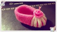 燕子手工:漂亮的贝壳鞋,给宝宝织一双