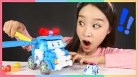 凯利的变形警车珀利泡沫条,蘸蘸水就可以组装的玩具 | 凯利和玩具朋友们CarrieAndToys