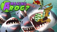 矿蛙【神奇青蛙】在游泳池喂鲨鱼