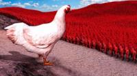 矿蛙【全面战争模拟器】肯德基爷爷对战10万母鸡