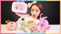 凯利的咪咪洋娃娃玩具和变形警车安巴救护车医院玩具| 凯利和玩具朋友们  CarrieAndToys