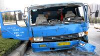 大货车失控与小轿车惊心碰撞交通事故车祸#事故警世钟051期#