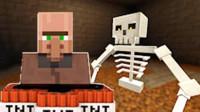 大海解说 我的世界Minecraft 僵尸村庄战骷髅金刚