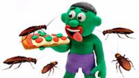 绿巨人被蟑螂攻击 橡皮泥定格动画