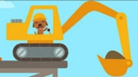 挖掘机工作表演视频 挖掘机动画视频