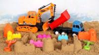 儿童挖掘机救援团队 挖掘机大卡车救助被困的动物 挖掘机装车视频 大卡车视频 挖掘机视频表演