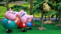 『奇趣箱』小猪佩奇玩具视频:夏日里小猪佩奇一家去多多岛恐龙探险,遇到了猫头鹰先生