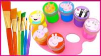 小猪佩奇学习画画_粉红猪小妹培乐多彩泥制作