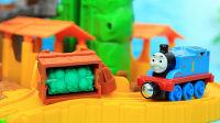 托马斯小火车轨道玩具 托马斯在迷雾森林轨道运输绿松石