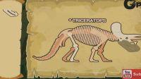 挖掘恐龙化石发现翼龙霸王龙三角龙化石组装恐龙化石 恐龙公园考古恐龙游戏