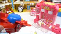 爆米花制造商玩具套 和 恐龙战士玩具 核心超级翼 和 变形警车珀利玩具 如何使颜色气球DIY 着色水球乐趣和创意儿童玩具 【 俊和他的玩具们 】