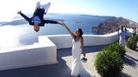 极限夫妻婚礼跑酷美如画 大神400米高悬崖走扁带