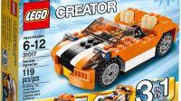 乐高搭建:百变创意系列31017 A模式-靓酷的橙色敞篷跑车