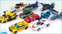 变形金刚 野兽猎手 大黄蜂 淘汰赛  阿尔茜 千斤顶 声波 10车载机器人玩具 北美国玩具 帅气玩具 【 俊和他的玩具们 】